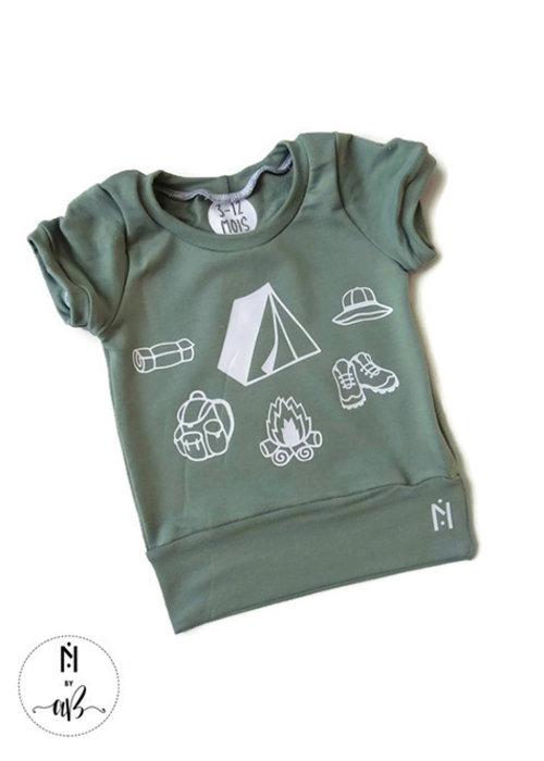 Collection Nörskin Nörskin Collection - T-Shirt Vert Camping 3-12 mois