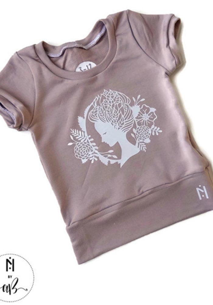 Nörskin Collection - T-Shirt Rose avec visage blanc 3-6 ans