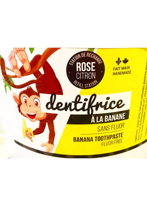 Rose Citron Rose Citron - Dentifrice BANANE VRAC 150g avec contenant