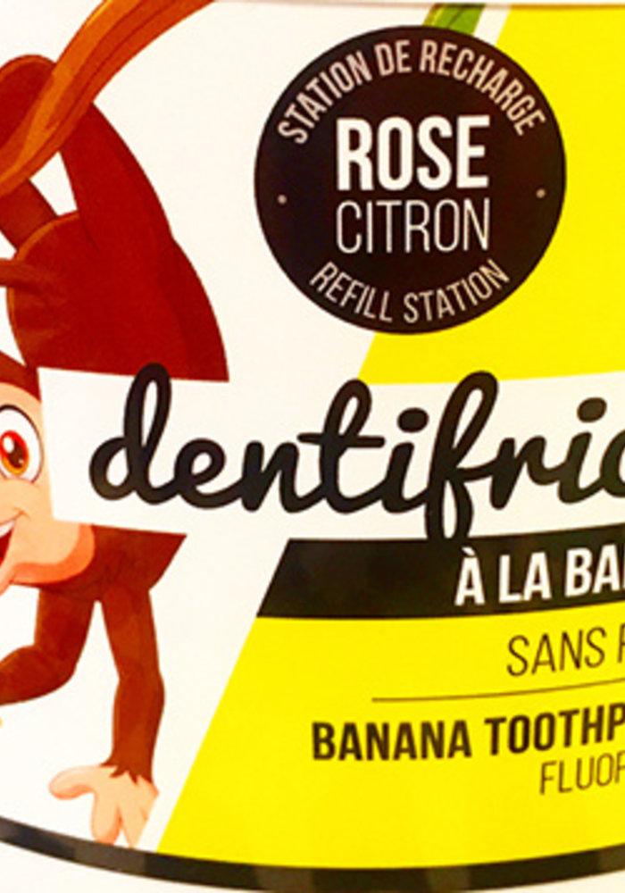 Rose Citron - Dentifrice BANANE VRAC 150g avec contenant