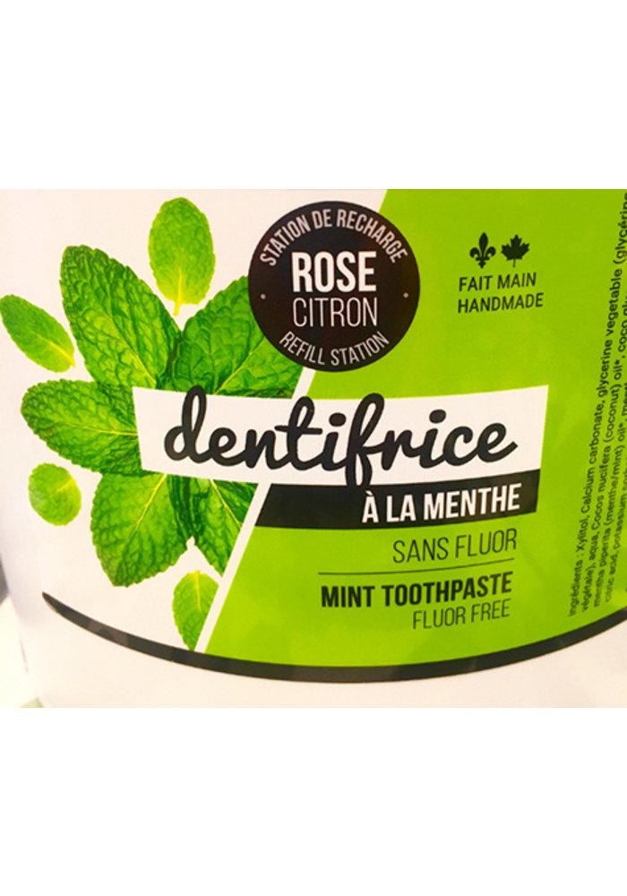 Rose Citron - Dentifrice MENTHE VRAC 150g avec contenant