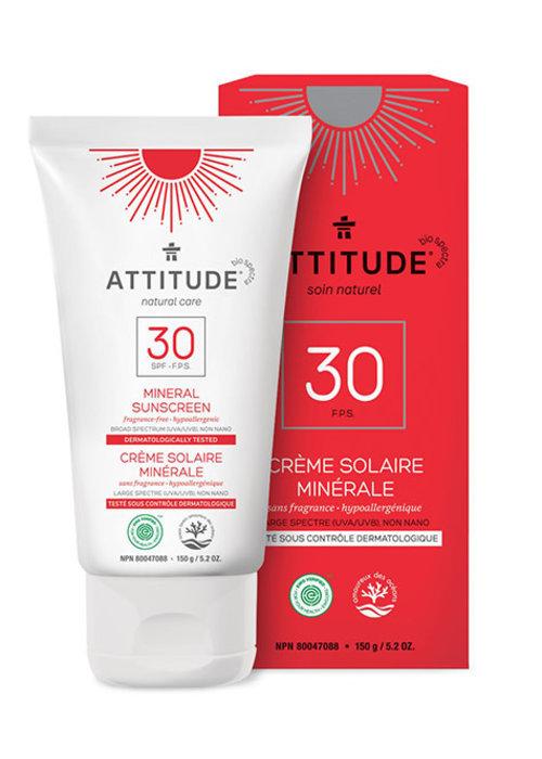 Attitude Attitude - Crème Solaire Sans Fragrance FPS 30 150g
