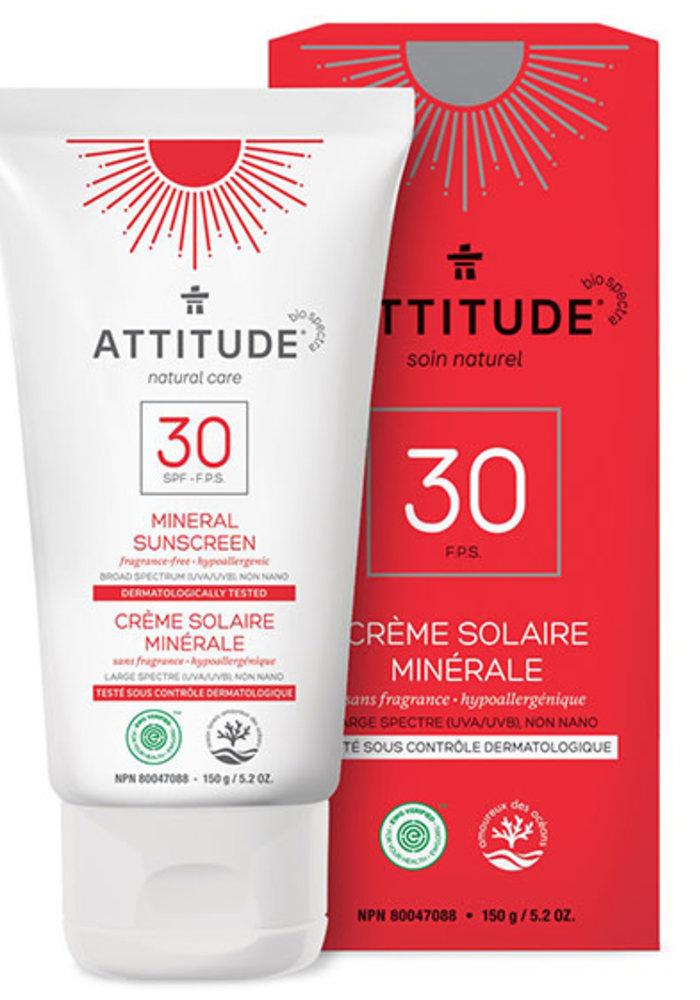 Attitude - Crème Solaire Sans Fragrance FPS 30 150g
