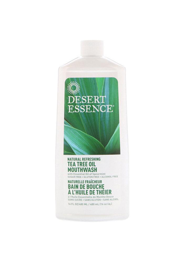 Desert Essence - Rince bouche - Théier et Mente douce 473 ml