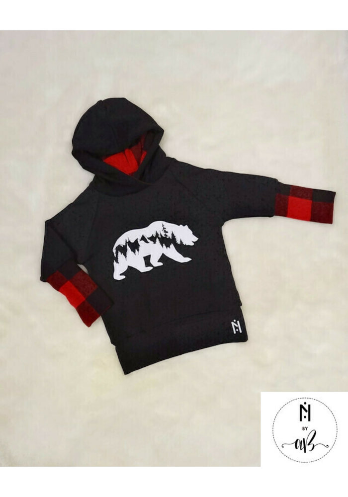 Hoodie carotté Ours