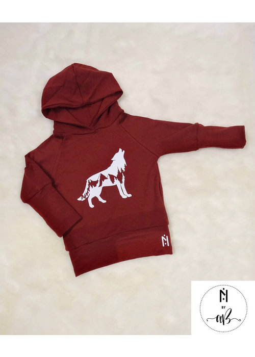 Collection Nörskin Nörskin Collection - Hoodie Bourgogne Loup
