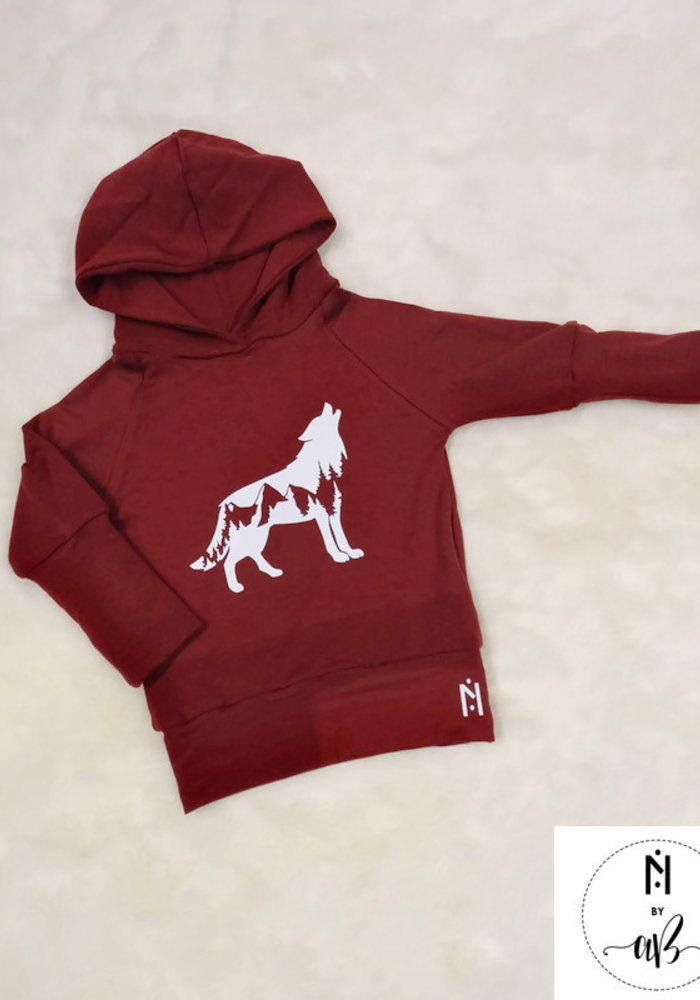 Nörskin Collection - Hoodie Bourgogne Loup