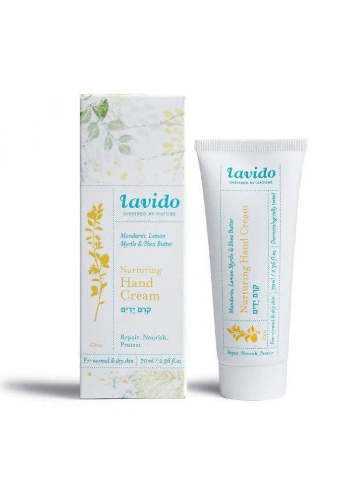 Lavido - Crème pour les mains nutritive - Mandarine, myrte citronnée et beurre de karité 70 ml