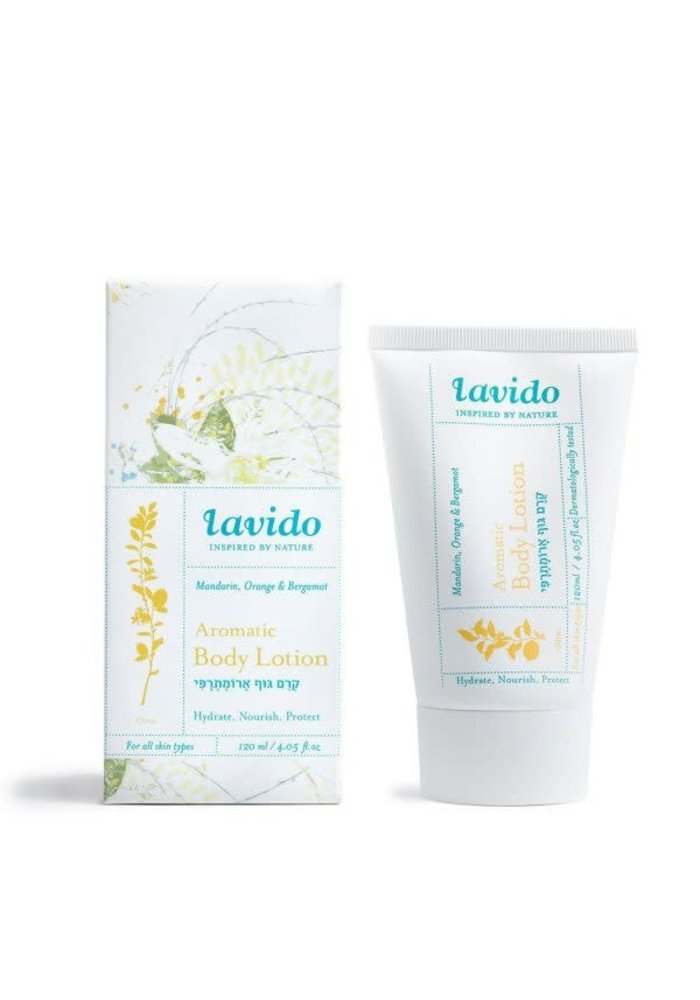 Lavido - Lotion aromatique corps - mandarine, orange et bergamote 120 ml