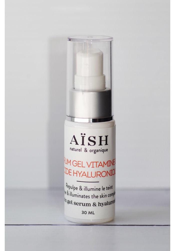 Aïsh Beauté - Sérum gel vitamine C et Acide Hyaluronique