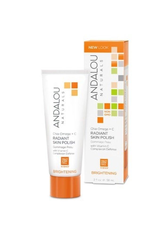 Andalou - ÉCLAIRCISSANTE - Gommage Éclaircissant  - Vitamine C 58 ml