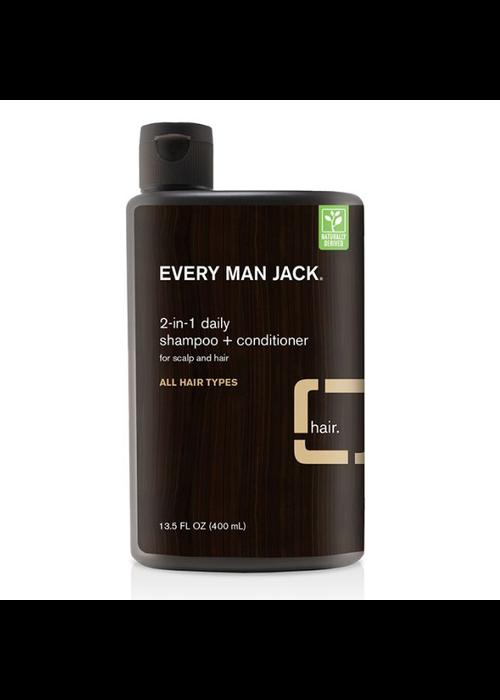 Every Man Jack Every Man Jack - Shampoing et Revitalisant  2 en 1 - Bois de Santal tout type cheveux  400 ml