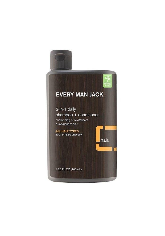 Every Man Jack - Shampoing et Revitalisant  2 en 1 - Agrumes Tout type de cheveux  400 ml