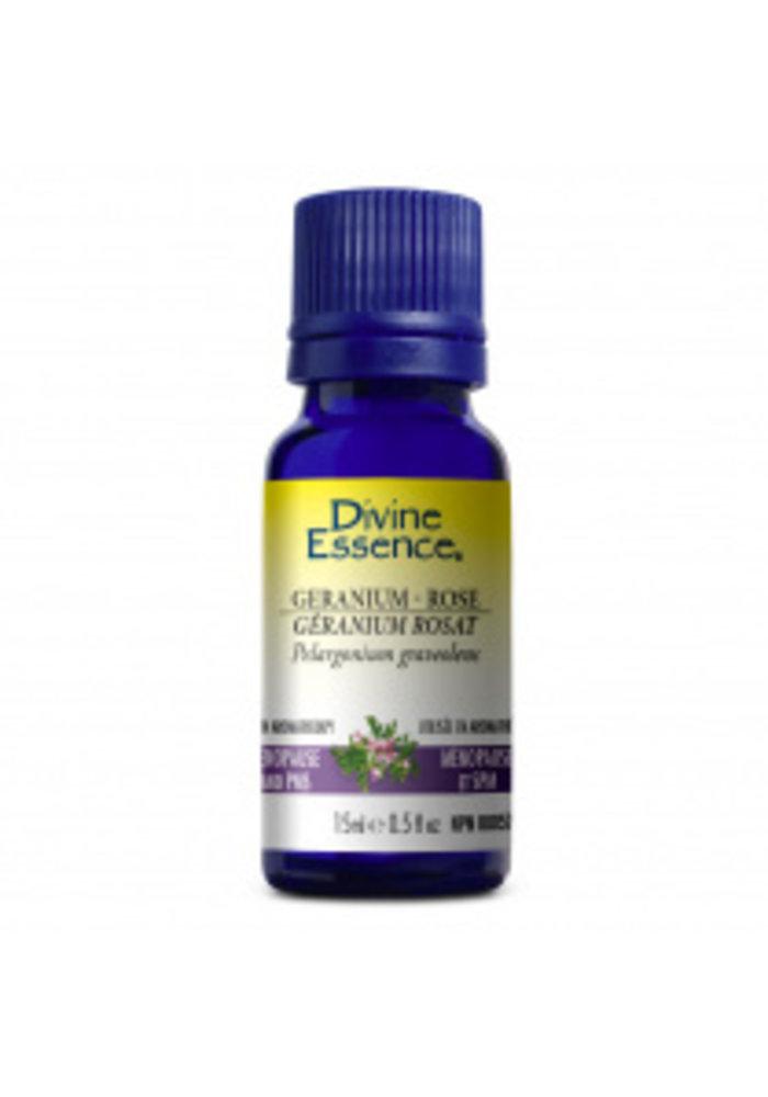 Divine Essence - Huile essentielle bio - Géranium rosat  15ml