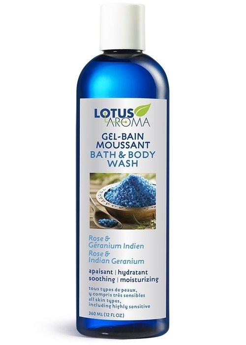 Lotus Aroma Lotus Aroma -Gel-bain moussant Rose et Géranium 360ml