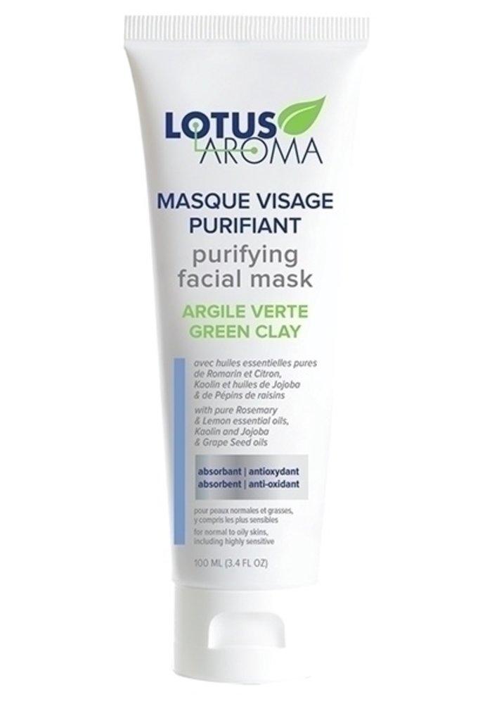 Lotus Aroma - Masque visage purifiant - Argile verte 100ml