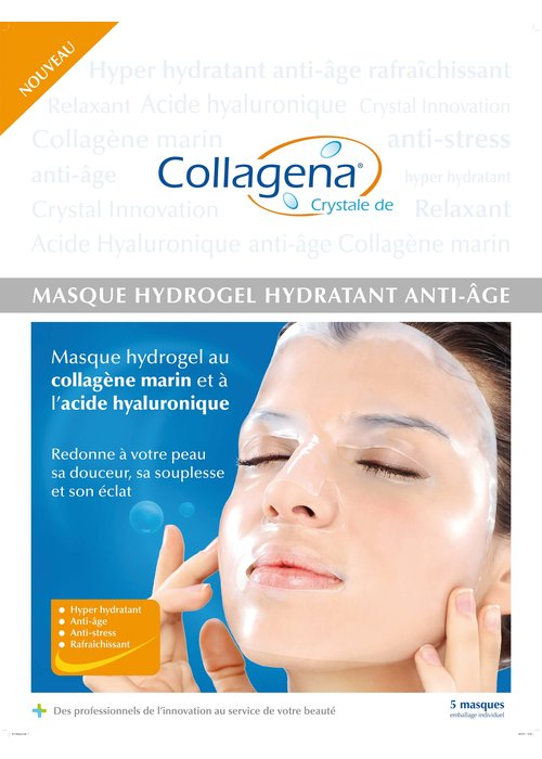 ReveloxCollagena Revelox Collagena - Boîte de 5 Masque Hydrogel anti-âge collagène marin + AH