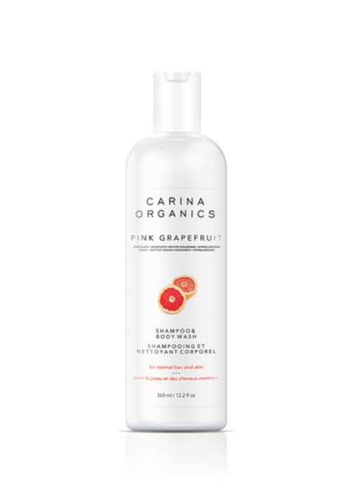 Carina Carina - Shampooing et nettoyant pour le corps Pamplemousse rose 360ml