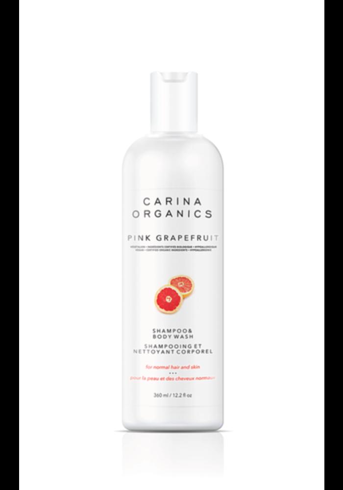 Carina - Shampooing et nettoyant pour le corps Pamplemousse rose 360ml