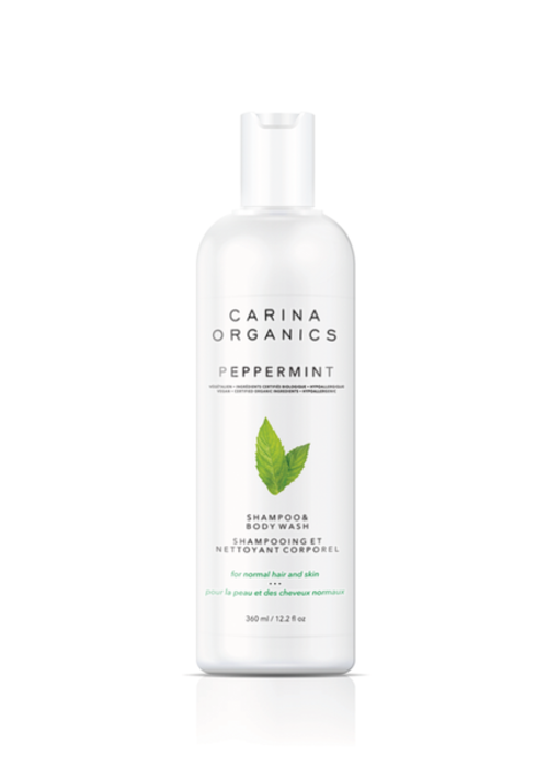 Carina Carina - Shampoing et nettoyant pour le corps Peppermint 360ml