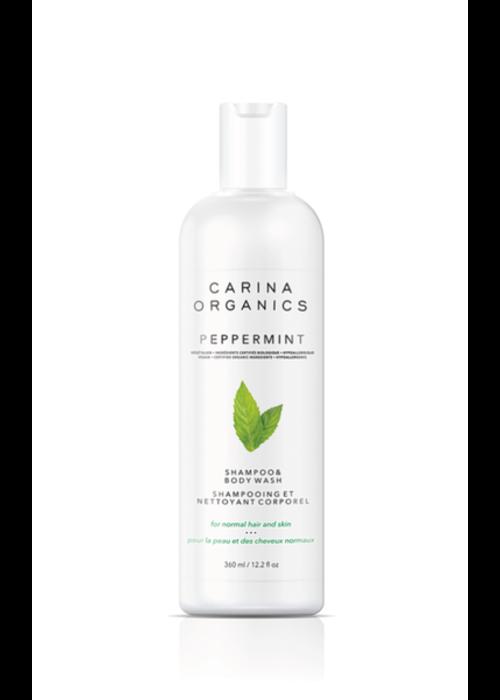 Carina Carina - Shampoing et nettoyant pour le corps Peppermint 360ml