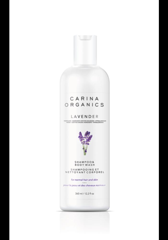 Carina - Shampooing et nettoyant pour le corps Lavande 360ml