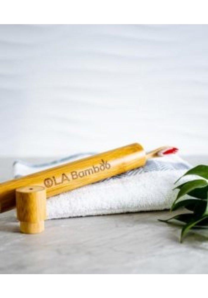 Ola bamboo - Étui de voyage Brosse à dent en bambou