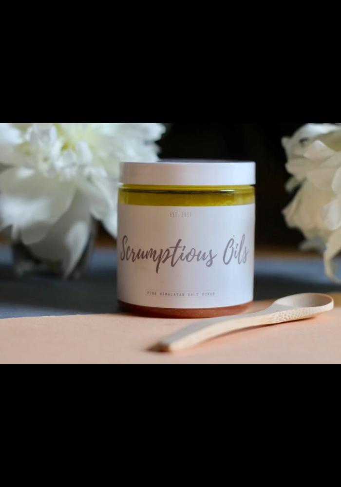 Scrumptious Oils - Exfoliant au sel rose de l'Himalaya - Orange Gingembre 8oz
