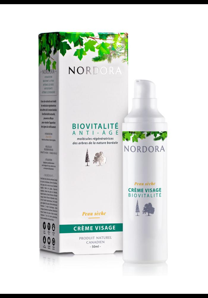 Nordora - Biovitalité anti-âge crème visage peau sèche 50ml