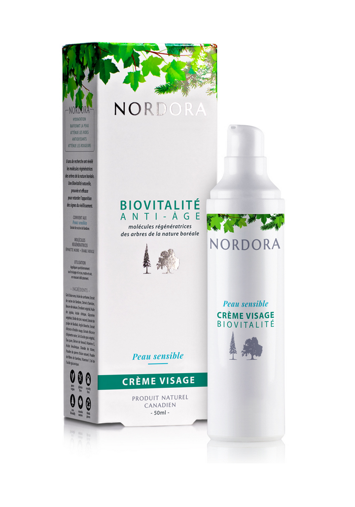 Nordora - Biovitalité anti-âge crème visage peau sensible 50ml