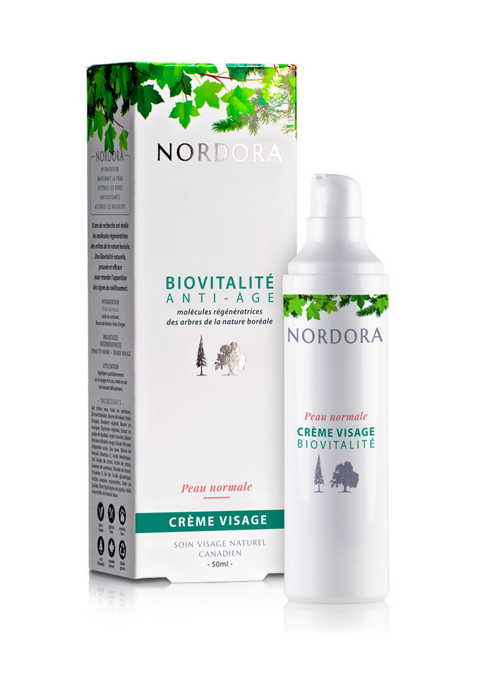 Nordora - Biovitalité anti-âge crème visage peau normale 50ml