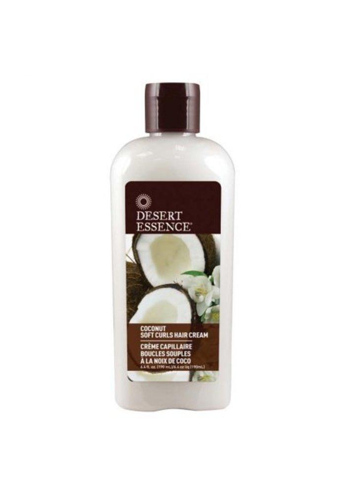Desert Essence - Crème capillaire boucles souples - Coconut 190 ml