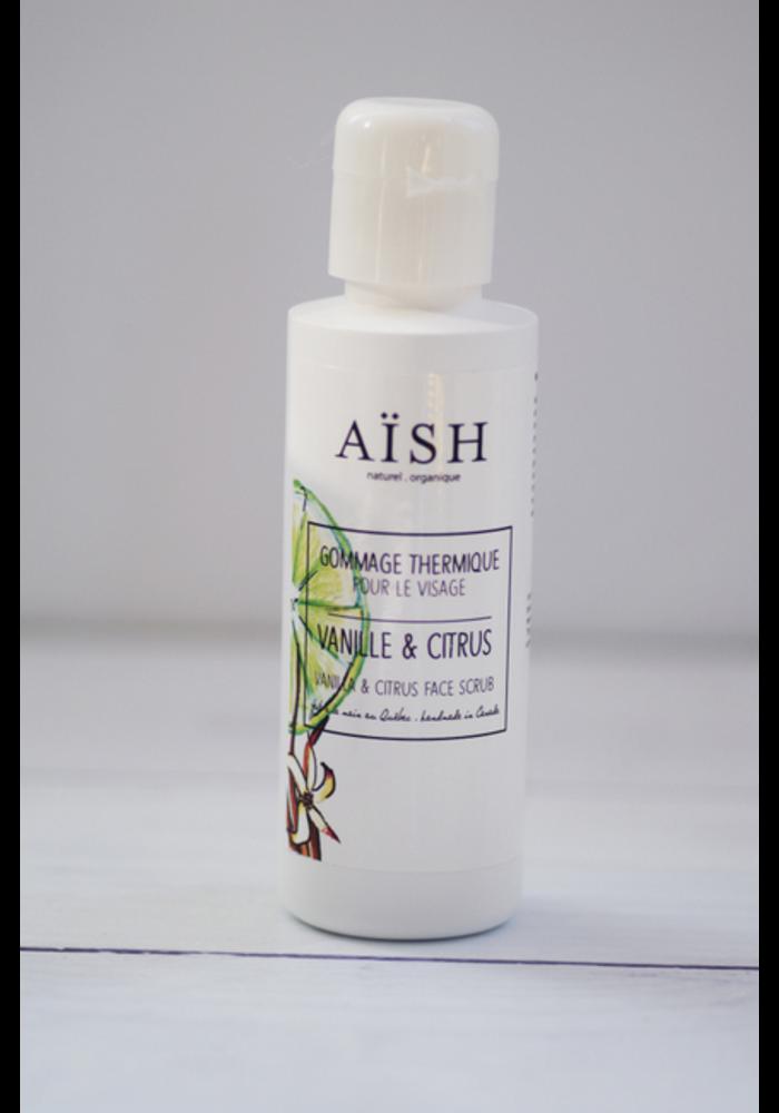 Aïsh Beauté - Gommage Thermique Citron & Lime - peaux sensibles et sèches 100 ml