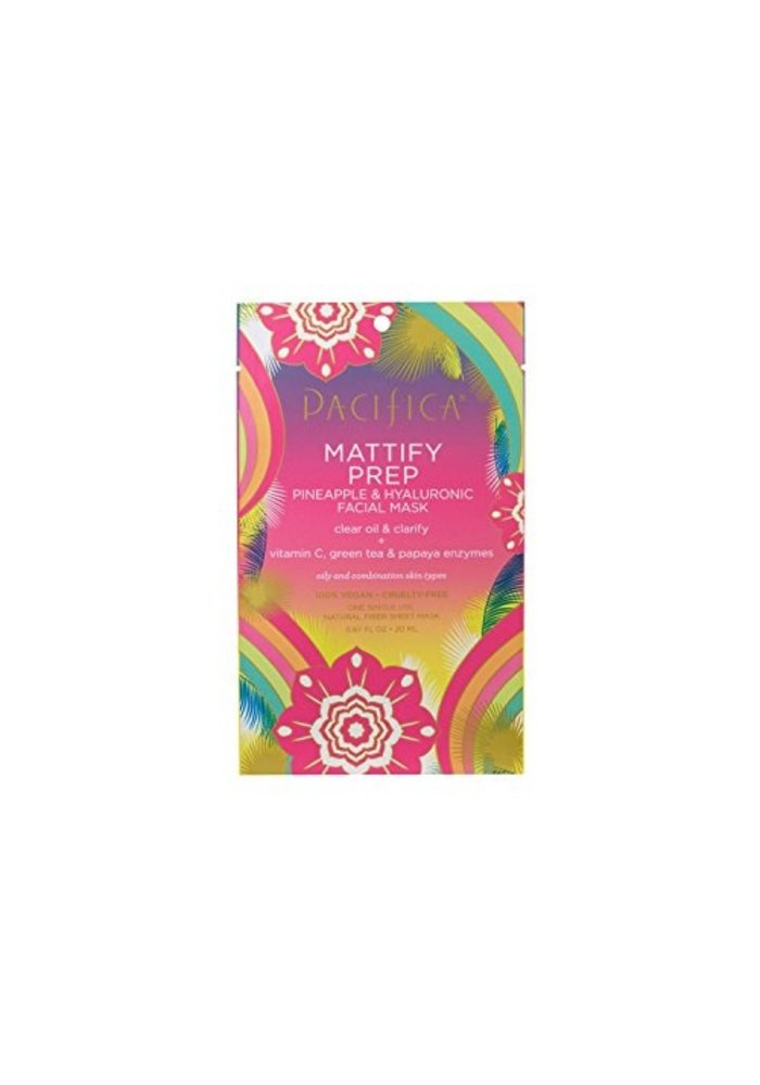 Pacifica - Masque tissu Mattify Prep - Ananas & Acide Hyaluronique (usage unique)