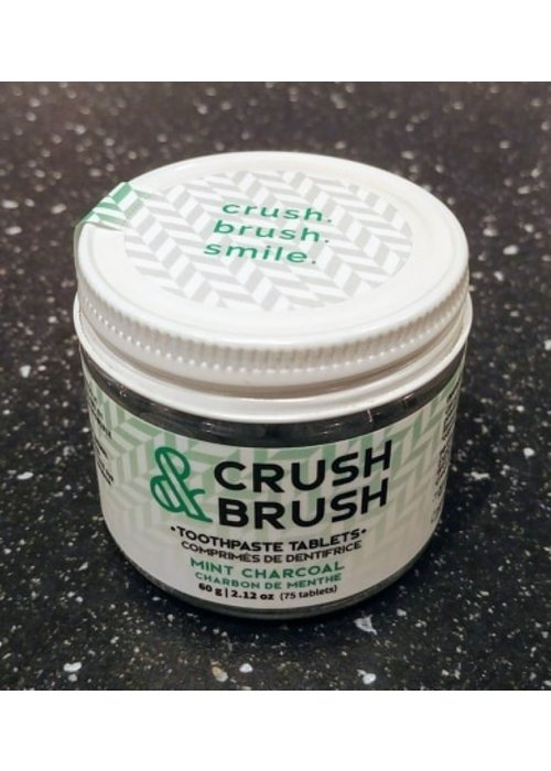 Nelson Naturals Nelson - Crush & Brush Comprimé de dentifrice au Charbon et Menthe (75 pastilles)