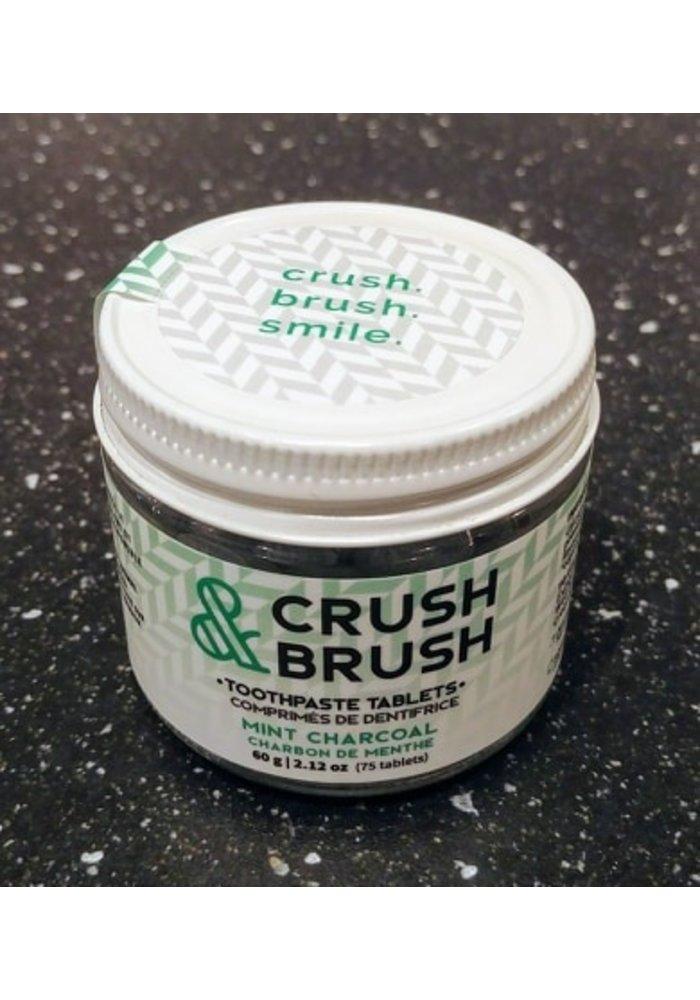 Nelson - Crush & Brush Comprimé de dentifrice au Charbon et Menthe (75 pastilles)