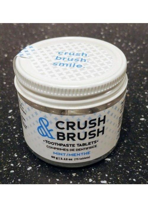 Nelson Naturals Nelson - Crush & Brush Comprimés de dentifrice Menthe (75 pastilles)