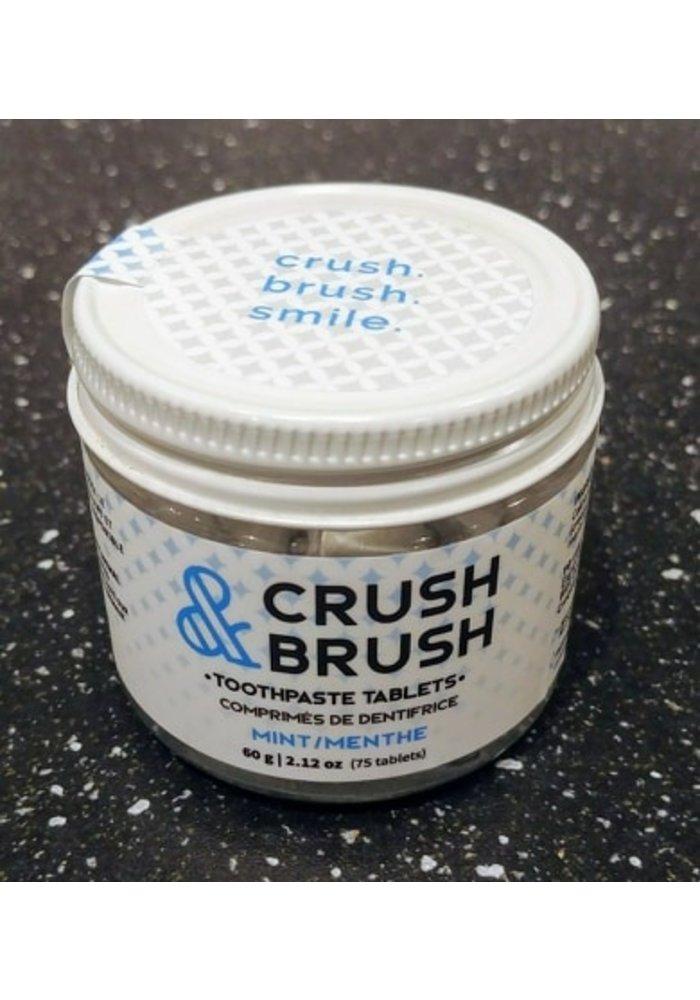 Nelson - Crush & Brush Comprimés de dentifrice Menthe (75 pastilles)