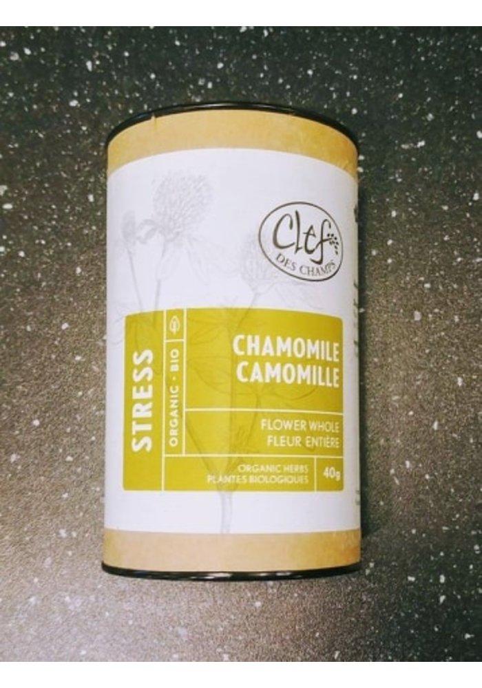 Clef des Champs - Tisane Camomille bio en tube 40g