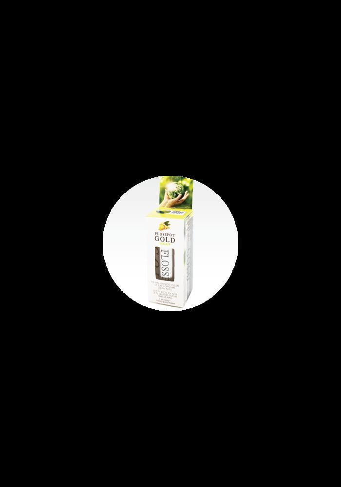 Flosspot - Soie dentaire GOLD Vegan - Bocal  de fil dentaire