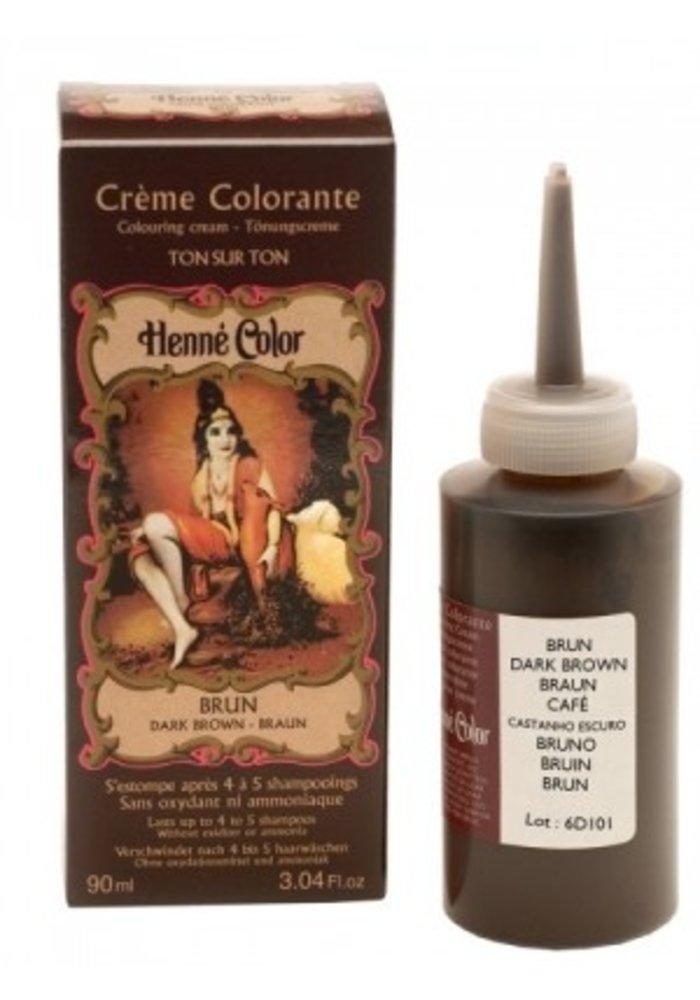 Henné Color - Crème colorante Brun