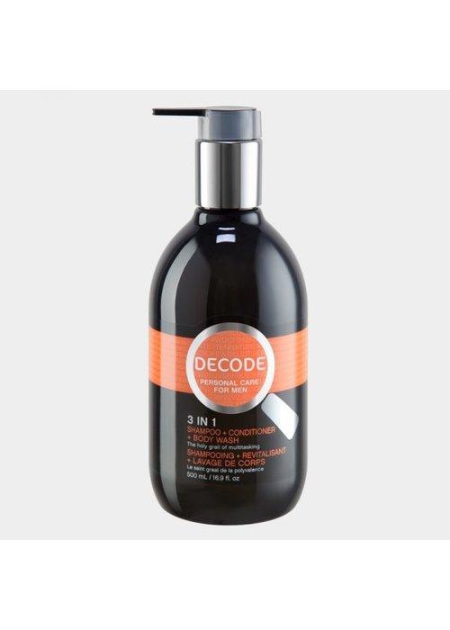 Decode Decode - 3 en 1 Shampoing + Revitalisant + Lavage du corps (le saint graal de la polyvalence)