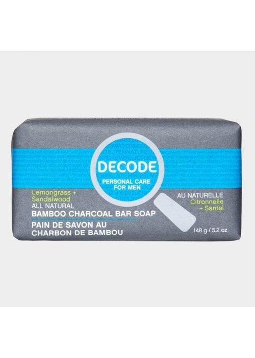 Decode Decode - Pain de savon au charbon de bambou Citronnelle + Santal