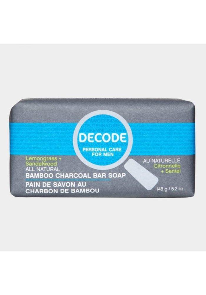 Decode - Pain de savon au charbon de bambou Citronnelle + Santal