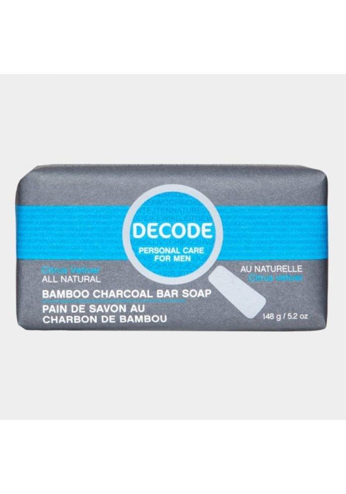 Decode - Pain de savon au charbon de bambou Citrus et Vetiver