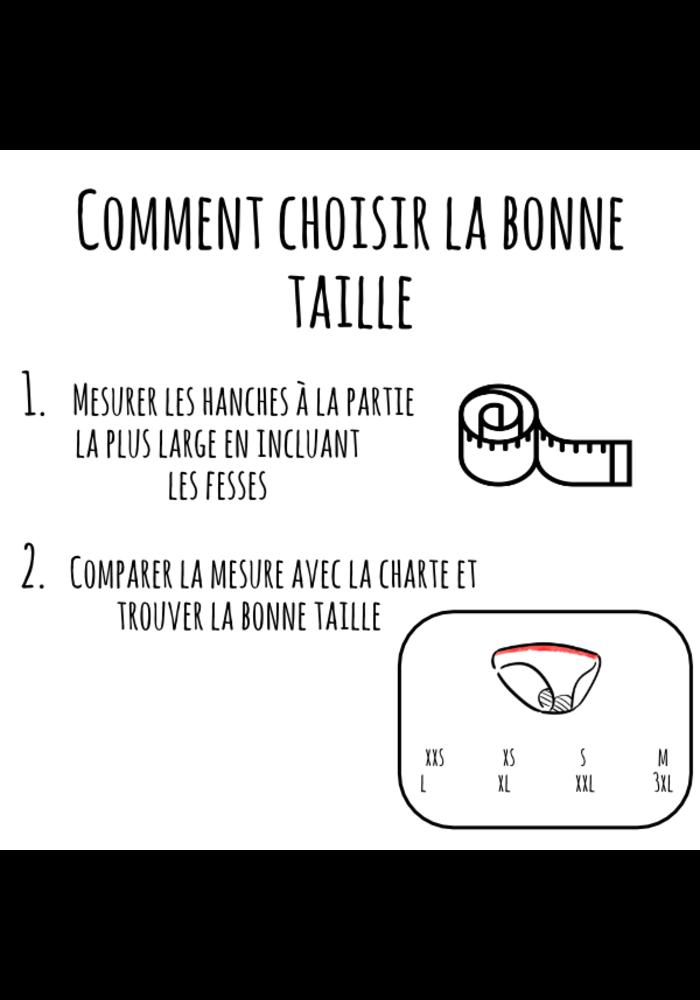 Mme L'Ovary - Culotte menstruelle de nuit - La Nighty