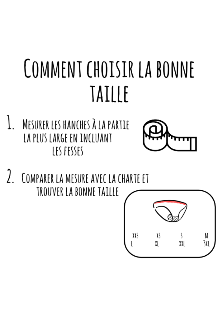 Mme L'Ovary - Culotte menstruelle de jour - La Shorty