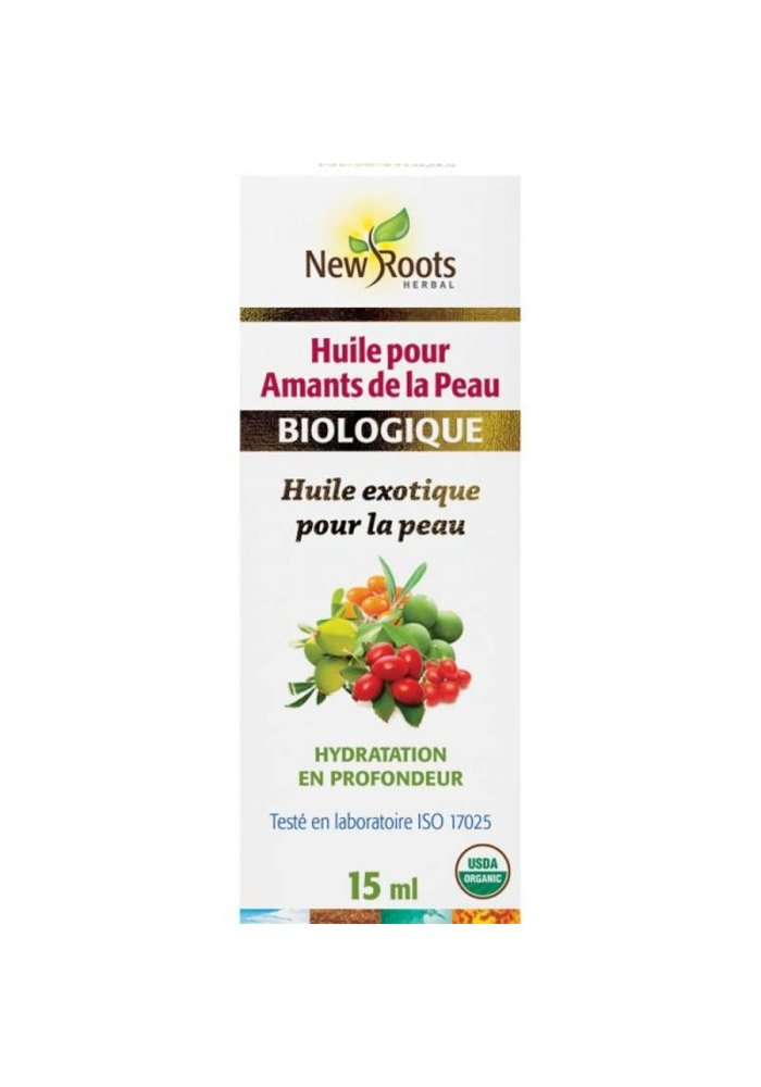 New Roots - Huile pour Amants de la peau , certifiée biologique 15ml