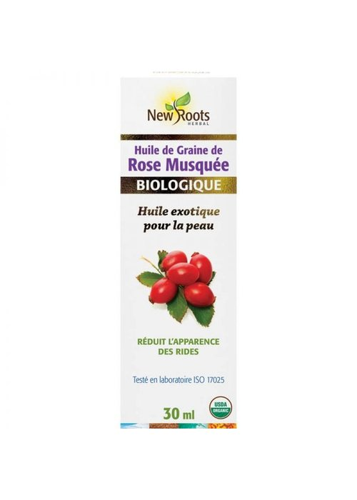 New Roots New Roots - Huile de graines de rose musquée, certifiée biologique 15ml