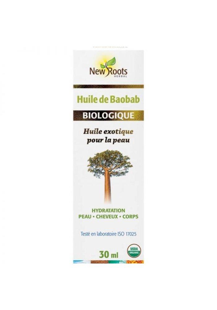 New Roots - Huile de Baobab, certifiée biologique 30ml